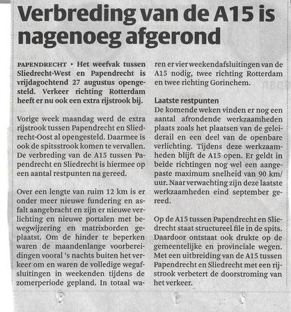 Artikel in de Klaroen van 1 september 2021
