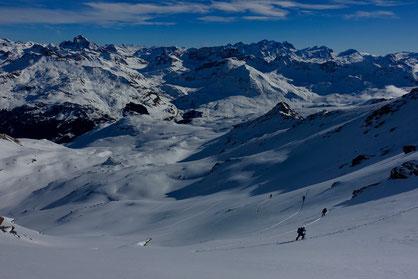 Skitour, Bivio, Julierpass, Graubünden, Schweiz, Piz Surparé, NE-Flanke, Nordostflanke