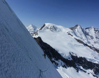Allalinhorn Nordwand, Skitour, Skihochtour, by fair means, Saas Fee, Wallis, Alphubel, Täschhorn, Dom