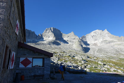 Pizzo Badile, Nordwand, Via Cassin, Gianettihütte, Pizzo Cengalo