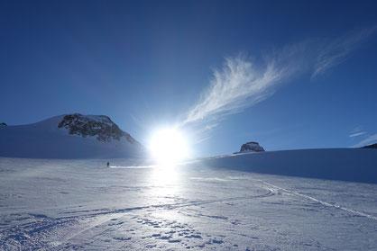 Skitour, Chli Spannort, Nordcouloir, Nordwand Couloir, Abfahrt, Glatt Firn