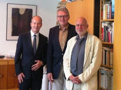 Von links nach rechts: Busshuven, Prof. Dr. Sternberg, Brunnert