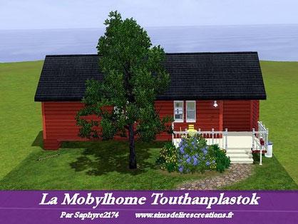 Simsdelirescreations Sims sims3 mobylhome Touthanplastok maison creation saphyre2174