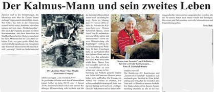 Kalmus-Mann  Max Hauffe - das einzige uns bekannte Foto