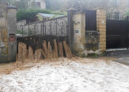 Valmondois (95), septembre 2014. Ruissellement ou inondation ?