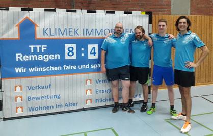 Die siegreiche dritte Mannschaft (v. l. Stefan Klimek, Matthias Baldauf, Peer Stobbe und Christoph Spanier)