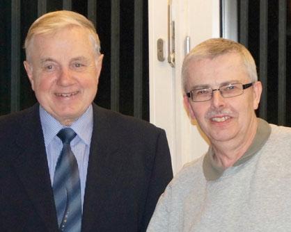 KSB-Ehrenvorsitzender Harald Graw (l.) und Ronald Lade