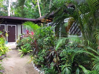 Unser Zimmer im schönen Garten vom Evergreen
