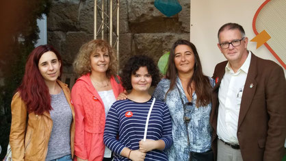 D'esquerra a dreta: Laia Soler, M. Carme Roca, Mixa, Patricia Martin i Pau Joan Hernàndez
