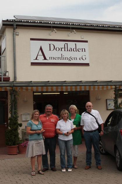von links nach rechts: Kariene Eikelmann, Bürgermeister Hermann Schmidt, Ute Schübele-Weber, Christine Peters und Siegfried Bless