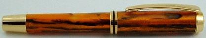gedrechselt Füllfederhalter Antik Gold