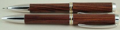 Schreibgeräte Set mit Drehkugelschreiber und Feinminenbleistift