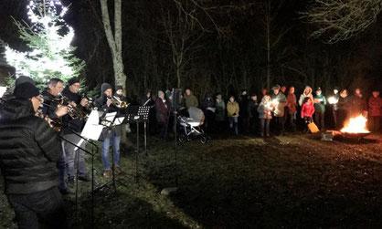 Besinnliche Waldweihnacht beim Imkerverein Burglengenfeld/Maxhütte-Haidhof in 2019