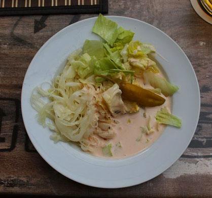 Krautsalat mit Dressing