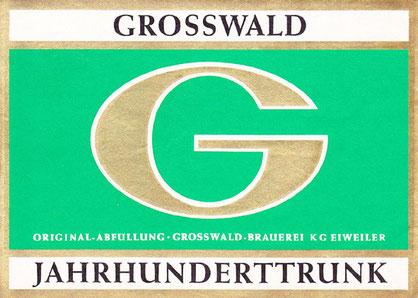 Grosswald Brauerei Bieretikett