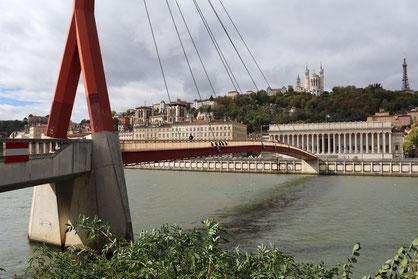 Brücke über die Saône in Lyon