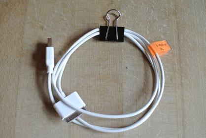 Kabel mit Klammern ordnen