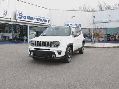 Jeep Renegade Selbstfahrerumbau, Linksgas, MFD Sodermanns, behindertengerechte Fahrzeugumbauten