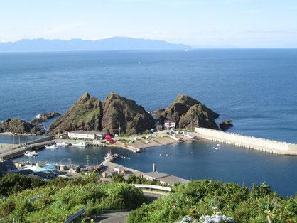 竜飛岬から 北海道が見えます 函館山も!