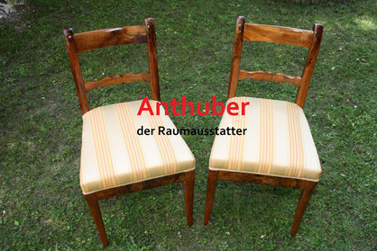 Bild: Wir verkaufen Zwei Biedermeier Stühle (ca. 1815 - 1848)
