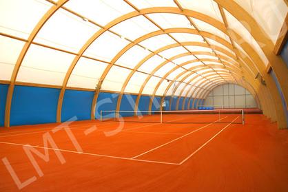 Строительство крытых теннисных кортов.