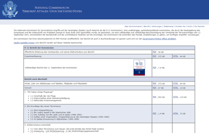 9-11 Bericht der Kommission - Die Nationale Kommission für terroristische Angriffe auf die Vereinigten Staaten