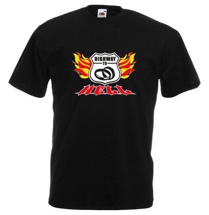 62 Junggesellenabschied t-shirt herren jga männertour highway to hell route 66
