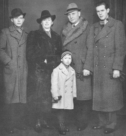 Familie Heinrich Beutel - Aufnahme um 1940