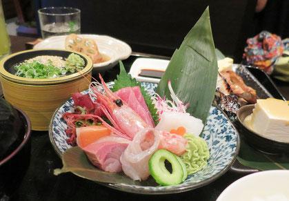 日本料理店の豪華なランチセットはお得