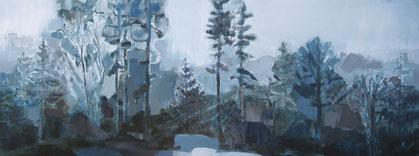 Wald/2  160 x 60  Acryl auf Leinwand