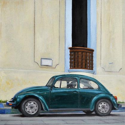 "Scott Duce, ""Vocho Viejo #8,"" 2016, oil on panel, 8 x 8 inches, SOLD"