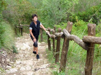 Aufstieg aus dem Cava grande del Cassibile