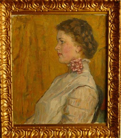 Vasily Surikov (1848-1916) : portrait d'une femme