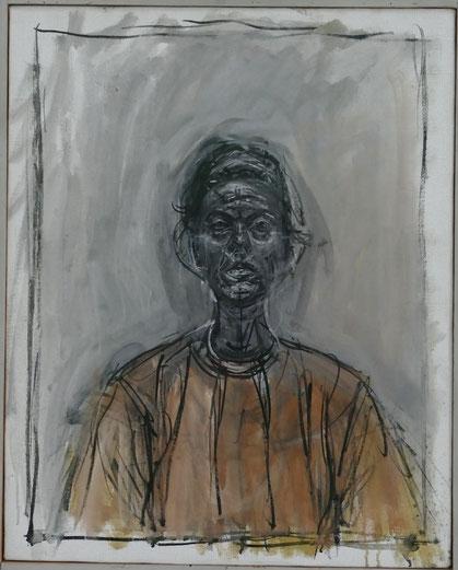 Alberto Giacometti : portrait d'Annette à la blouse jaune, 1964