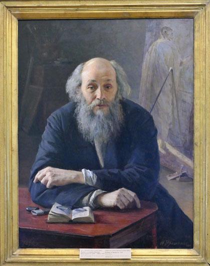 Nikolai Jaroshenko (1846-1898) : portrait de Nicolas Ge