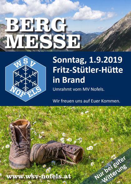 Vorankündigung Bergmesse 2019 WSV Nofels