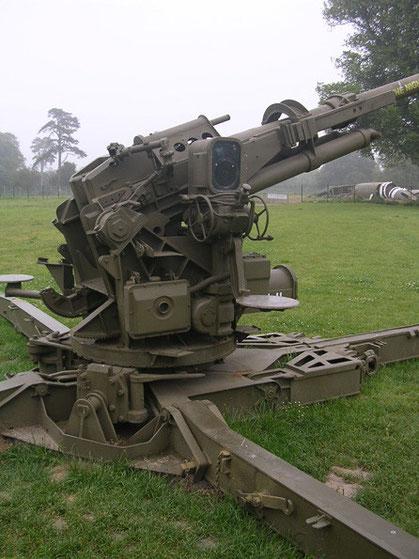 Einer der letzten Geschütze zur Flugzeugbekämpfung überhaupt.