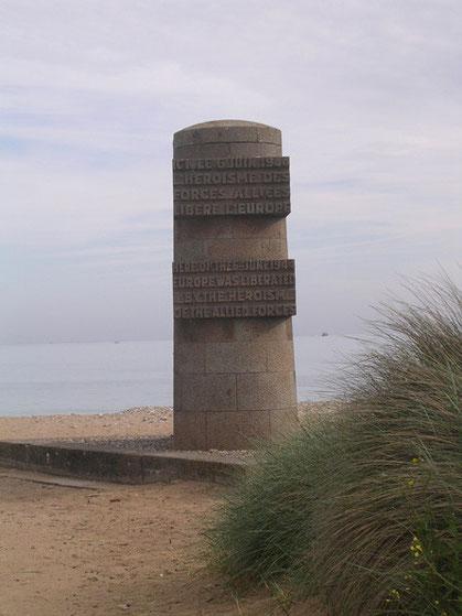 Der britische Landungsplatz der ersten Welle.