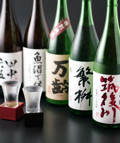 日本酒イメージ写真 筑後川 繁枡 万齢