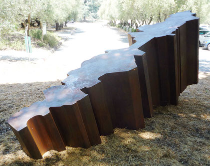 grant irish corten steel sculpture Decline (Angle of Repose)