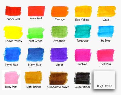 colour text font