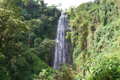 Materuni Waterfall, a beautiful waterfall on the slopes of Mount Kilimanjaro