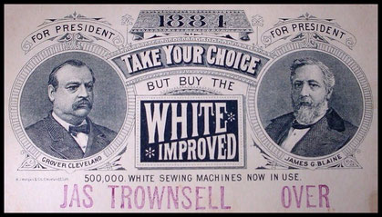500.000 WHITE SEWING MACHINES NOW IN USE - 1884