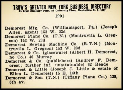 New York Directory 1901
