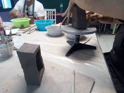 Clase de ceramica japonesa  mari orikasa