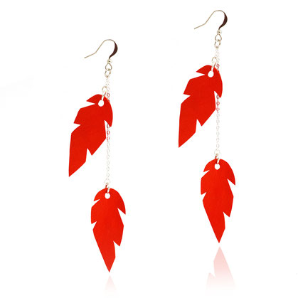 créations bijoux- créateur bijoux- bijoux fait main-bijoux cuir- créateur bijoux cuir- création bijoux- -sarayana-handmade jewelry-leather jewelry-bijoux de créateur- boucles d'oreille cuir- boucles d'oreille rouge-boucles d'oreilles plumes