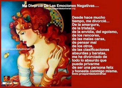 MUJER EXITOSA - EMOCIONES Y SENTIMIENTOS - PROSPERIDAD UNIVERSAL - ME DIVORCIÉ DE LAS EMOCIONES NEGATIVA- WWW.PROSPERIDADUNIVERSAL.ORG