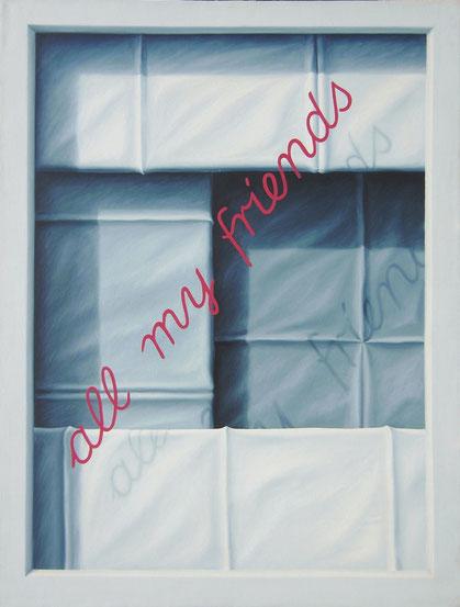 all my friends, 1981, 140/107, Öl auf Leinwand