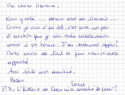 Lucie, formation correcteur, août 2015