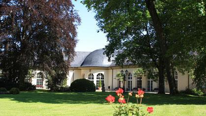 Wandelhalle im Kurpark von Bad Neustadt - Quelle: Tourismus und Stadtmarketing Bad Neustadt